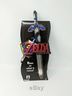 Zelda Ocarina of Time Nintendo 64 N64 Store Display Standee Promo Display Sign