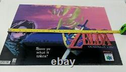 Zelda Ocarina of Time Nintendo 64 N64 Translite Sign Promo Store Display VTG