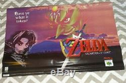 Zelda Ocarina of Time Vinyl Banner N64 Nintendo 64 Store Display Poster Sign